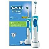 Oral-B Vitality Crossaction Spazzolino Elettrico 2D Ricaricabile con tecnologia Braun, Bianco/Blu