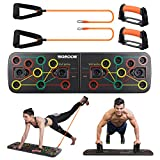 SGODDE Push Up Board, 13 in 1 Push Up Fitness System Stand, Pieghevole Multifunzionali Body Buiding...
