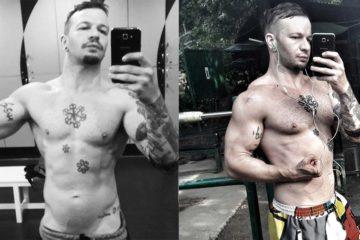la mia trasformazione: 5kg di massa muscolare in un mese prima e dopo, body transformation