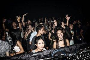 bangkok's nightlife with people dancing
